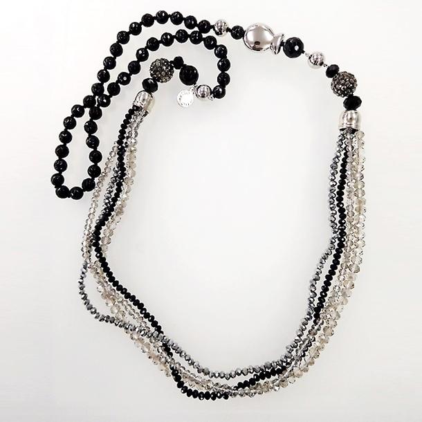 ブラックカラー コンバーチブル ネックレス